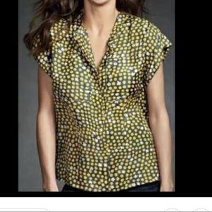 Cabi style 183 Silk clover polkadot blouse S